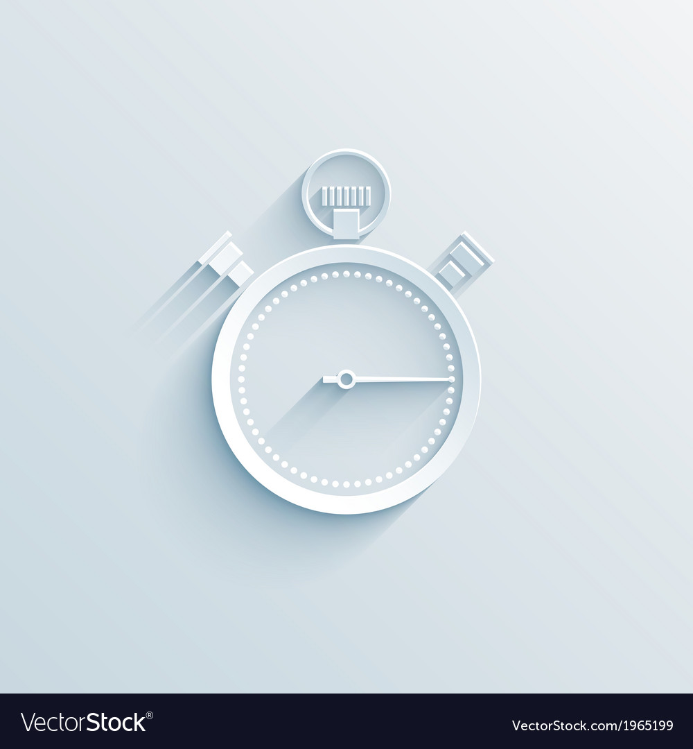 Chronometer paper icon vector | Price: 1 Credit (USD $1)
