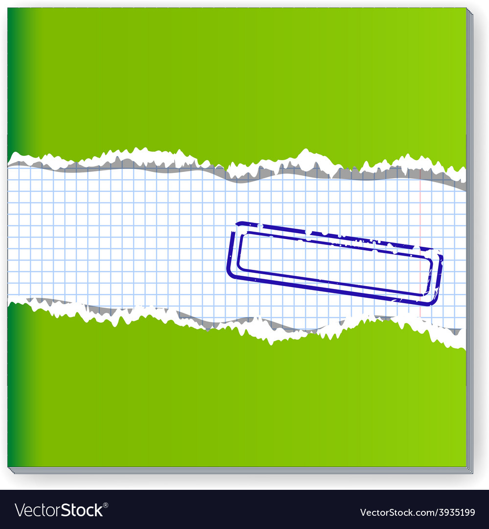 Damaged copybook vector | Price: 1 Credit (USD $1)