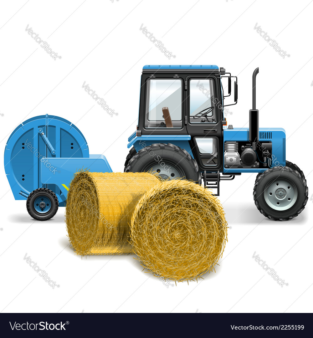 Hay baler concept vector | Price: 3 Credit (USD $3)