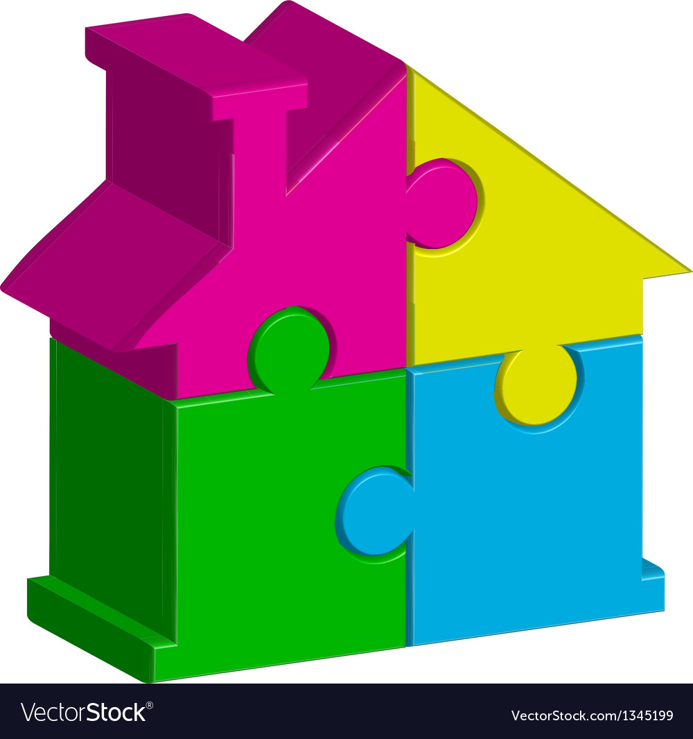 House from puzzles vector | Price: 1 Credit (USD $1)