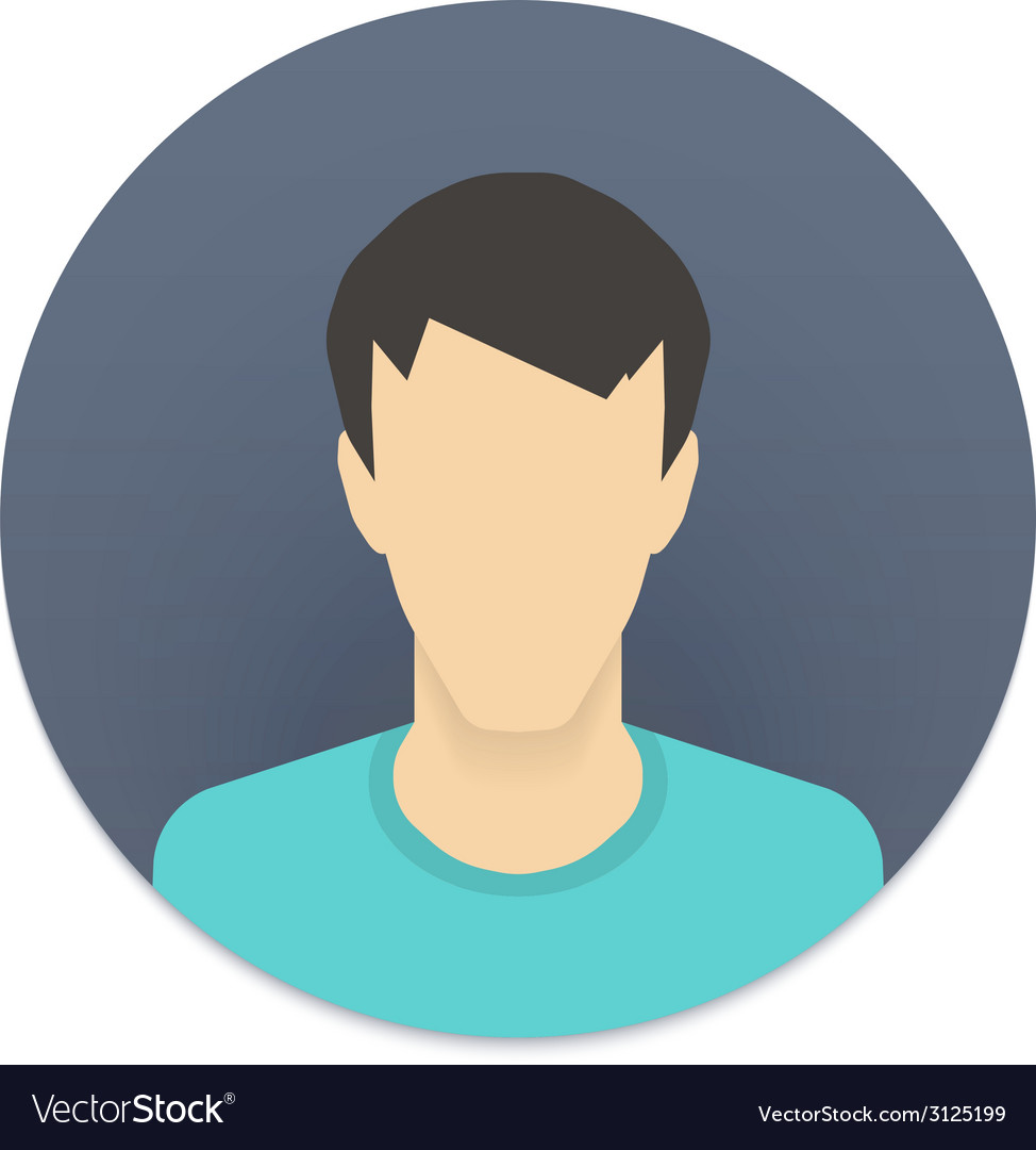 Icon of user avatar for web site or mobile app vector | Price: 1 Credit (USD $1)