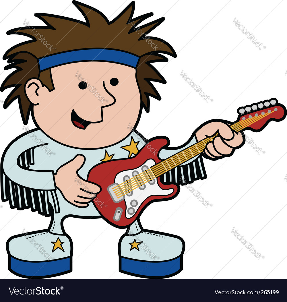 Rock and roll musician vector | Price: 3 Credit (USD $3)
