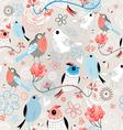 Pattern love birds vector