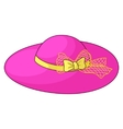 Female hat with a bow vector