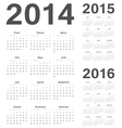 Spanish 2014 2015 2016 year calendars vector