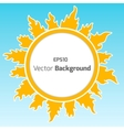 Sunshine round background vector