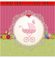 Baby pram card vector