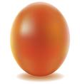 Gold easter egg isolated on white background vector