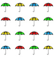 Seamless pattern of row colorful umbrellas vector