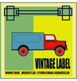Retro van label vector