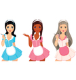 Girls maid vector