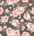 Vintage classic roses seamless background vector