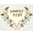 Retro doodle floral background vector