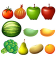Different fruits vector