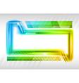 Abstract shape rainbow vector