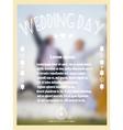 Vintage wedding card with bride and groom vector