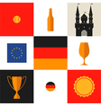 Germany icon set vector