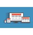 Responsive web design concept desktop computer vector