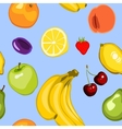 Seamless summer fruit background vector