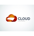 Cloud storage logotype set flat design vector