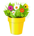 Flower pot vector