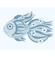 Fish with flowers vector