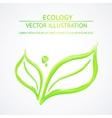 Liquid green leaves vector