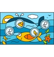 Underwater world background vector