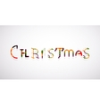 Christmas word concept font vector