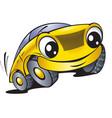 Cartoon car with smile vector