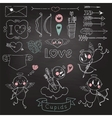 Cupids arrows hearts and other design elements vector