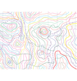 Abstract topographical map vector