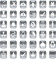 Silver icons 2 vector