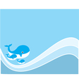 Water whale vector