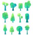 Ornate geometric trees vector