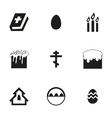 Easter icons set vector