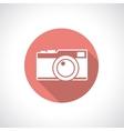Vintage camera icon vector
