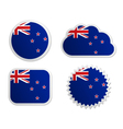 New zealand flag labels vector