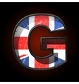 Great britain cutted figure g vector