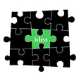 Idea puzzle background vector