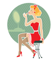 Pin up girl style vector