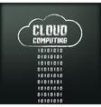 Blackboard with image of cloud computing vector
