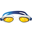 Goggles yellow glass vector