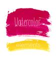 Watercolor bright elements vector