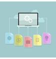 Cloud computing technology abstract scheme vector