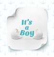 Its a boy template for baby shower celebration vector