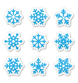 Christmas snowflakes icons set vector