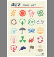Ecology and environment web icons set vector