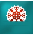 Christmas snowflake applique  eps8 vector