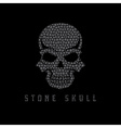 Mosaic skull design template vector